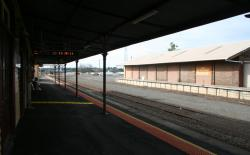 Goods shed viewed from the platform