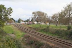 Down end of Colac station looking towards Camperdown