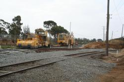 Corio Quay: Track machines lay idle