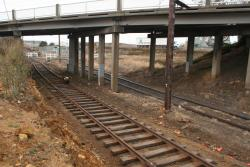 Corio Quay: Work on new track looking to the quay