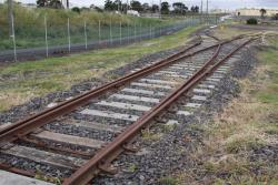 Looking down the siding, the points are clipped for the left hand siding. The wharf sidings to the right must be out of use