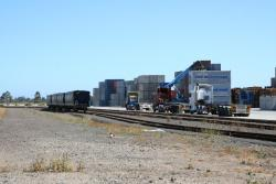 Road hauled freight and stored wagons