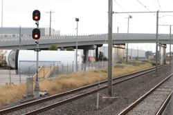 CRT Siding: Signal 15/26 at Kororoit Creek Road for up trains approaching the siding