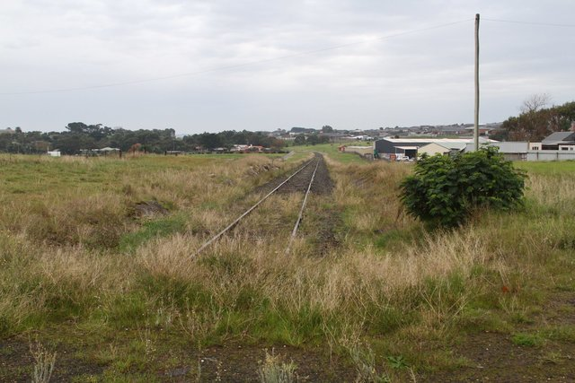 Looking past the end of the line at Westvic