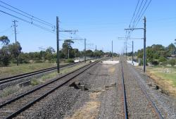Derrimut Road, track spread for future station