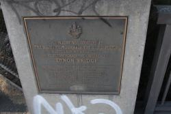 Plaque marking the official opening of the Dynon Road bridge on 8th August 1968