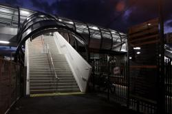 Stairs up to the bridge from platform 2/3