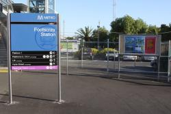 Footscray: Forecourt on Irving Street finished off, at least until it gets bulldozed for the RRL platforms
