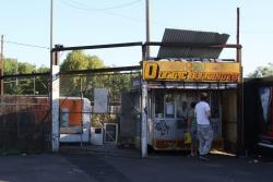 Footscray: Doughnut van still in place, everything else demolished for the upcoming RRL works