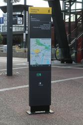 Maribyrnong City Council way finding signage in the station forecourt