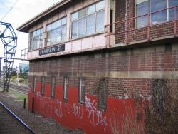 North-east side of the signal box