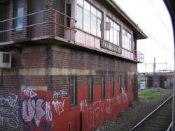 Franklin Street Junction: South-east side of the signal box