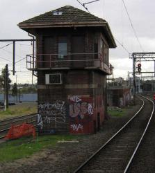 Franklin Street Junction: South side of the signal box