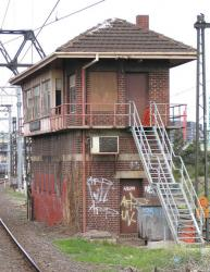Franklin Street Junction: North side of the signal box