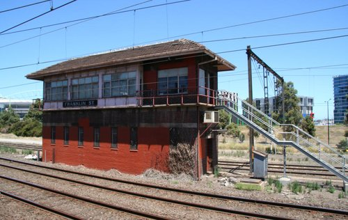 Signal box at Franklin Street