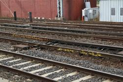Franklin Street Junction: Point rails marked for replacement at Franklin Street