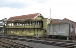 Geelong 'A' signal box: The now closed Geelong 'A' signal box and former relay room