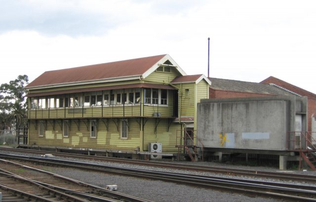 The now closed Geelong 'A' signal box and former relay room