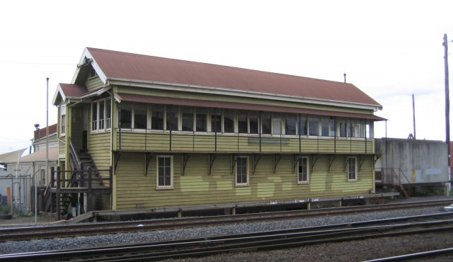 The now closed Geelong 'A' signal box