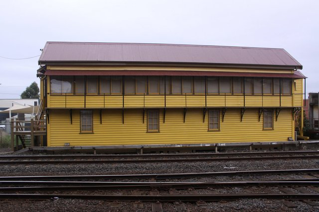 Signal box all repainted and re-roofed