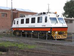 Geelong Locomotive Depot: EM100 stabled at Geelong between jobs