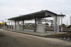 Railcar fuel point
