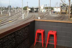 Looking out over the tracks from Pako Raw cafe