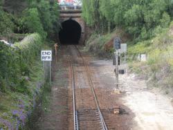 Up end of the Geelong tunnel