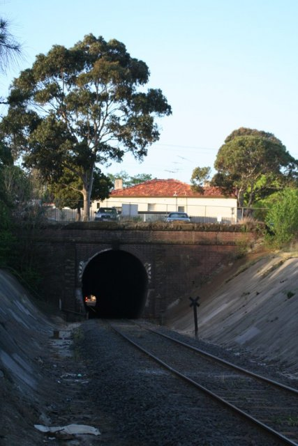 South Geelong end of the tunnel