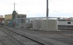 New recycled water tanks for the carriage wash