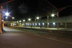 Geelong Station: Geelong station by night