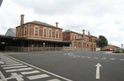 Main forecourt to the station