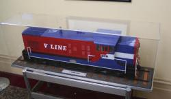 Booking office, V/Line livery model of a second series T class