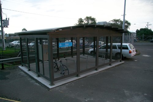 'Parkiteer' bike cage at the up end of the east car park