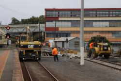 Geelong Station: Relaying the yard trackage on the bridge over Gordon Avenue