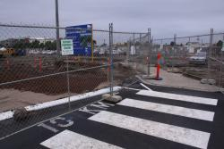Geelong Station: Pedestrian crossing left for access to the station