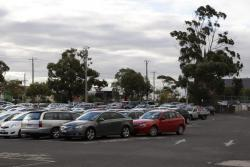Northern side commuter car park full for a weekday