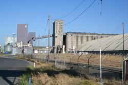 Overview of the silos from the north