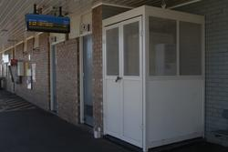 Equipment cabinet on the platform at Hoppers Crossing
