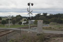 Extra high lights at the Colac - Ballarat Road level crossing