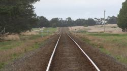 East from Warrowie Road level crossing