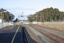 Lara: Looking down the line towards Geelong