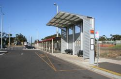 Lara: Useless bus shelter which offers no weather protection