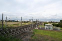 Laverton Junction looking up, tie station to the right