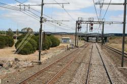 Laverton Junction looking down, tie station to the left