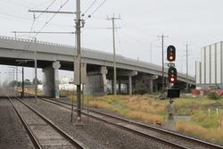 Laverton Loop: Signal 15/30 for down trains approaching the loop
