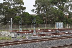 Laverton Loop: Signals 20/14, 20/16 and 20/20 for up trains departing the future container terminal