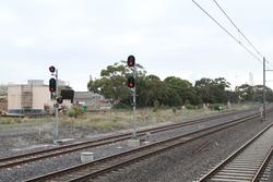 Laverton Loop: Signals 20/10 and 20/12 for up trains departing Laverton Loop