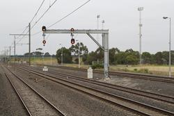 Signals 20/30 and 20/32 for down trains departing Laverton Loop