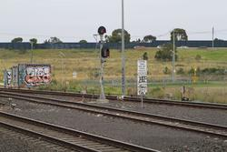 Laverton Loop: Signal 20/34 for down trains departing the SCT depot